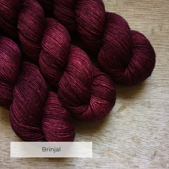 Soft silky merino dyed a deep rich burgundy