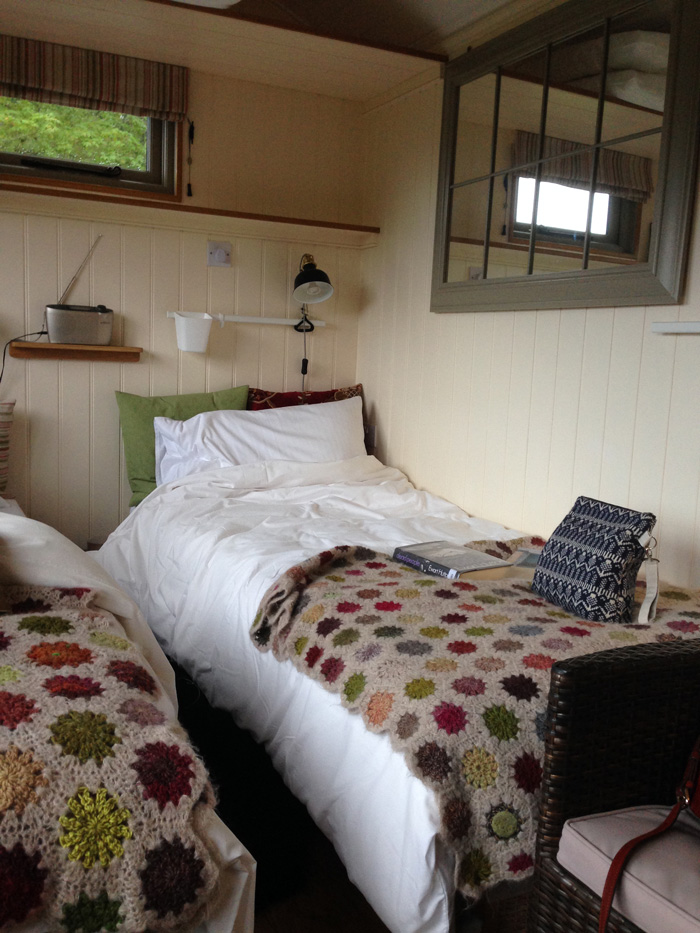 Two beds in a shepherd's hut