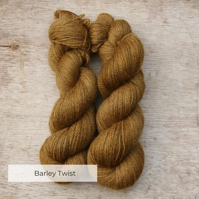 Two fat skeins of deep golden yarn