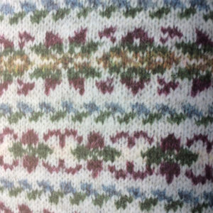 A close up of the front of a Fairisle sweater