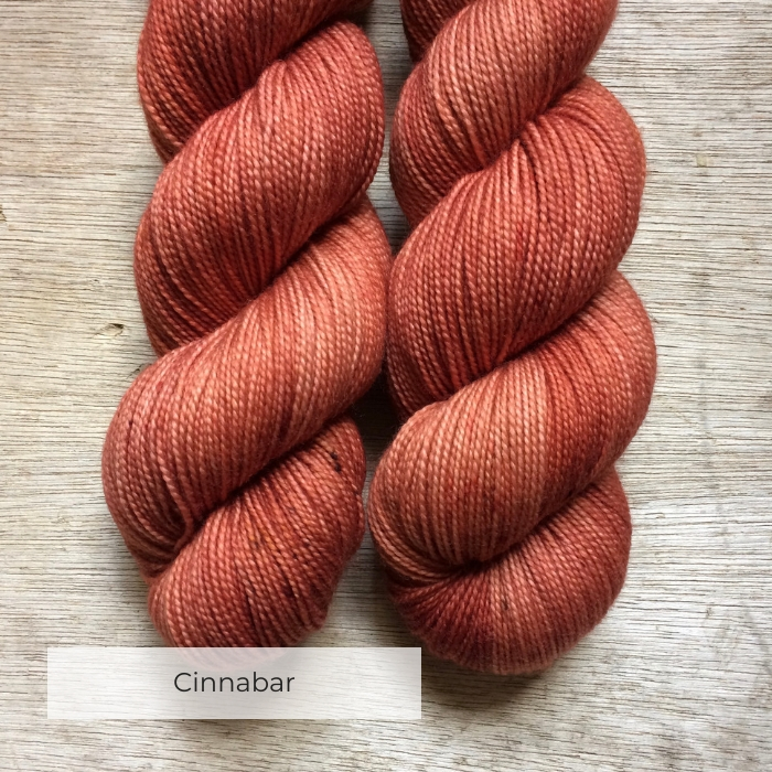 Two skeins of terracotta yarn