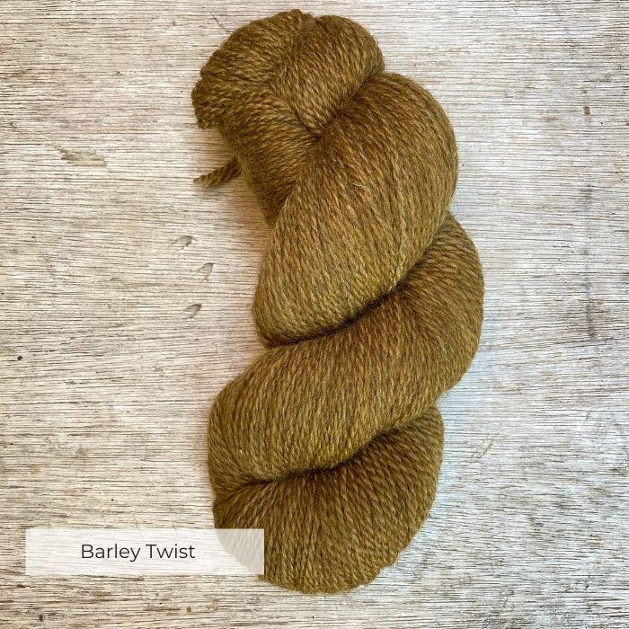 A single skein of ochre wool